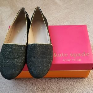 Kate Spade Black Gold Nella Loafers